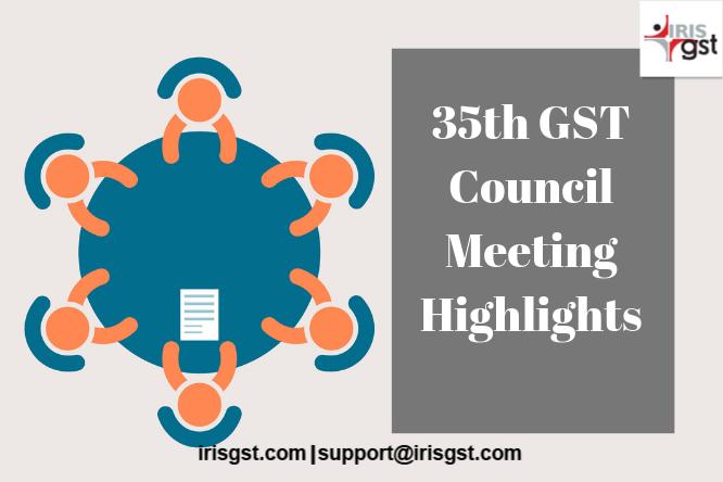 35 GST Council meeting