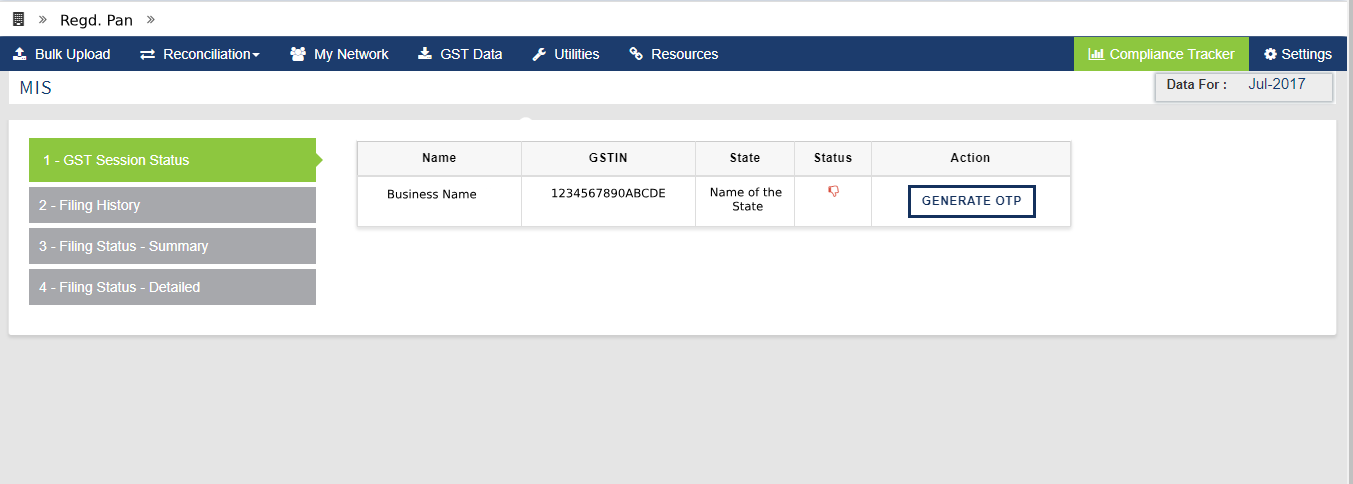 GST Session Status