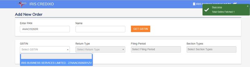 Credixo_GSTIN search