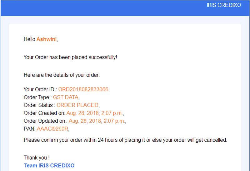 Credixo_Order mail