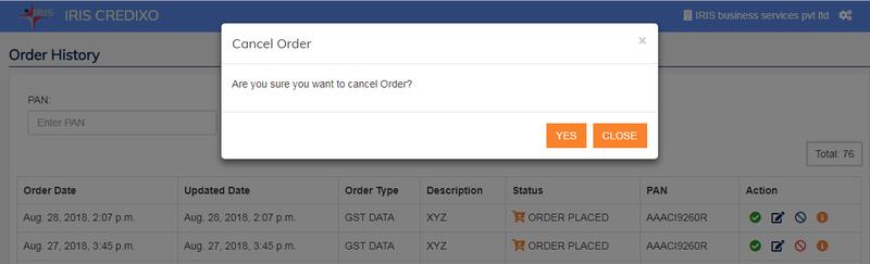 Credixo_cancel order