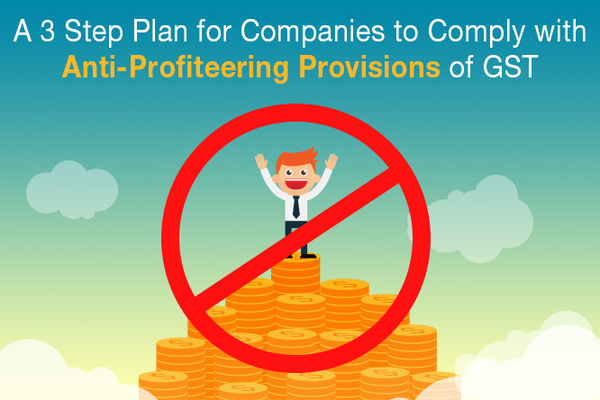 A 3 Step Plan for Companies to Comply with Anti-Profiteering Provisions of GST